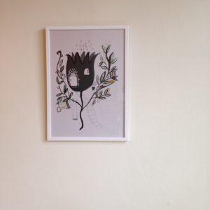 Poster Blomhus som tagen ur en saga