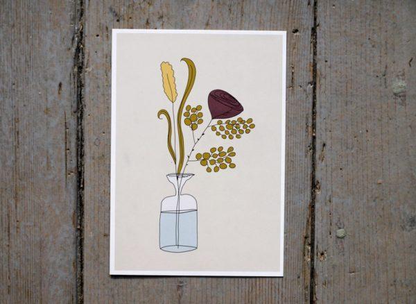 illustration med ros på grattiskort