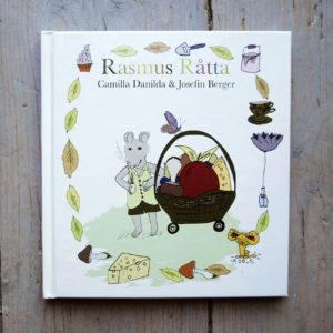 Rasmus Råtta och en stor korg med mat