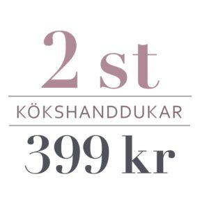 2 st kökshanddukar: 399 kr