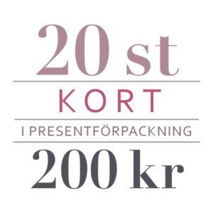 20 kort för 200 kr