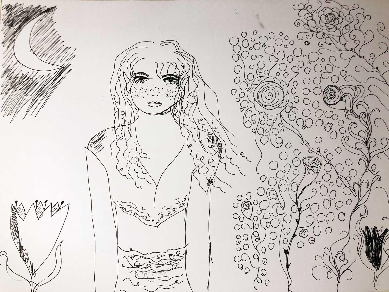 Elf princess illustration